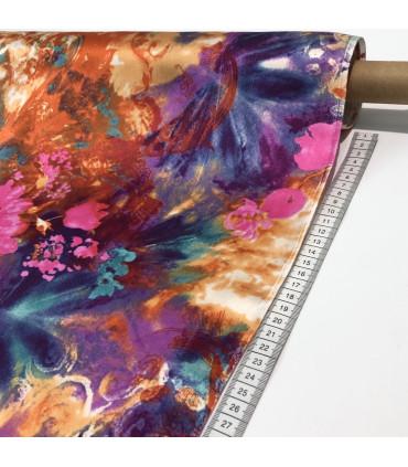 Silkesateng med digital trykk