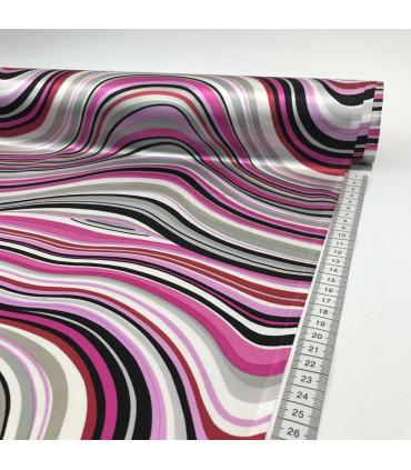 Silkedamask med mønster