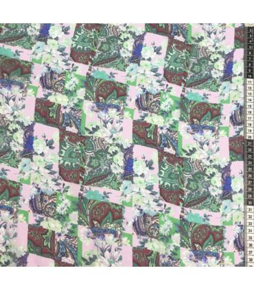 Mønstret Silke shiffong, Ungaro