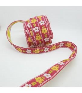 Brokadebånd Blomster 15mm
