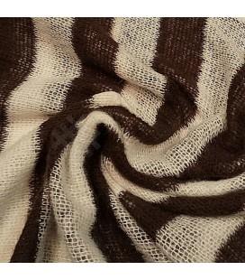 Strikket ull med striper