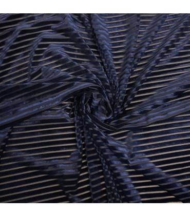 Stretch Velour med striper
