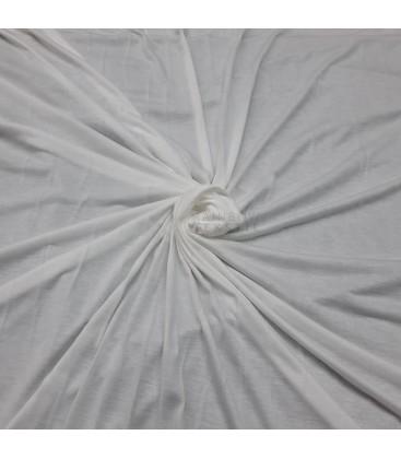 Bomullsjersey Ekstra Tynn -Hvit