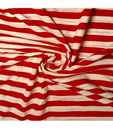 Viskosejersey med striper