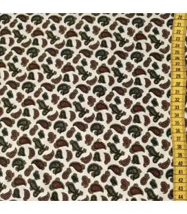 Mønstret Bomull -111-OffwhiteLys