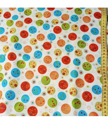 Mønstret Bomull - 350-Oransje