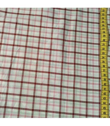 Mønstret Bomull - 758-DypRosa