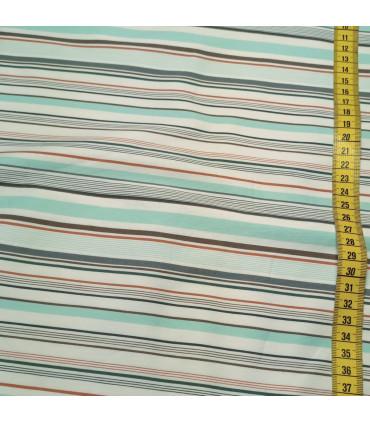 Mønstret Bomull - 053-PastellTurkis